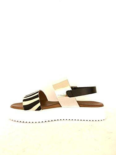 ZETA SHOES - Sandalias de vestir de Piel para mujer plateado
