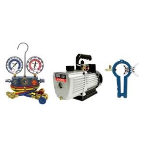 CPS Products (CPSVP2SKIT) 1.9 CFM PRO-SET Vacuum Pump With Manifold Gauge Set and 3-in1 Can Tap