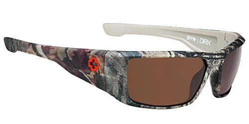 Spy Optic Dirk 672052158885 Polarized Wrap Sunglasses, 64 mm (Spy/Real Tree/Happy Bronze Polar)