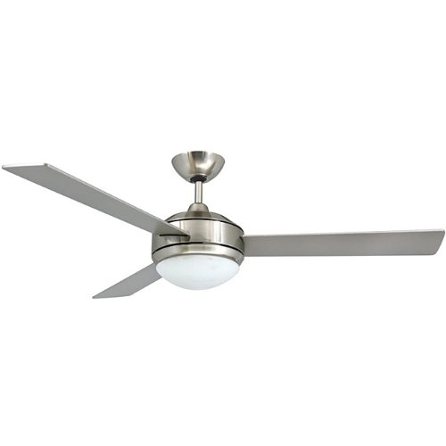 Contemporary 52-inch Brushed Nickel 2-light Ceiling Fan by Aztec