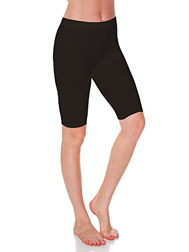Emmalise Women's Capri 17 in Knee Length Bermuda Seamless Legging - Brown, One (Brown Bermuda)
