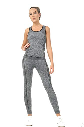Bahob® Women's Sportswear Set Ladies Gym Wear Track Suit Vest Top and Leggings Stretch Yoga Workout Fitness Set