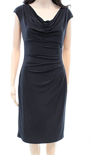Drape Neck Sheath Dress - 7