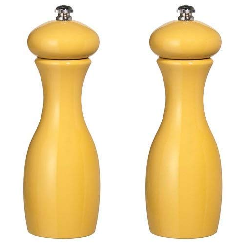 Fletchers' Mill Marsala Collection Salt & Pepper Mill, Goldenrod - 7 Inch, Adjustable Coarseness Fine to Coarse, MADE IN U.S.A. ()