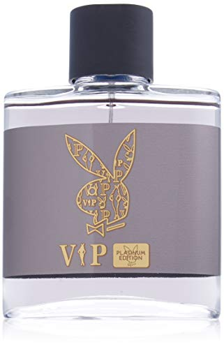 Playboy Vip Platinum Edition Eau de Toilette Spray, 3.4 Ounce