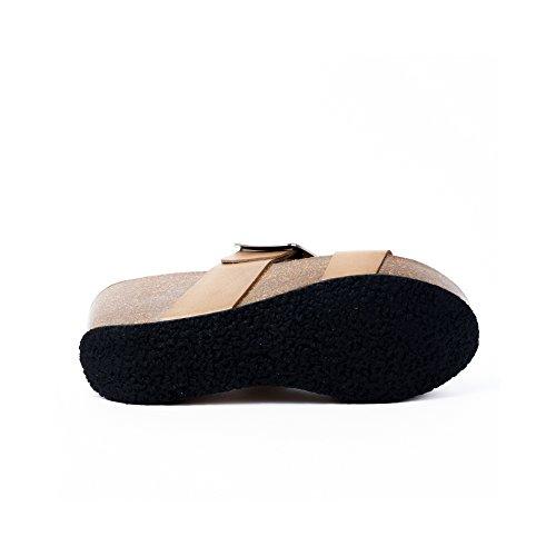 Plakton Beige Sabot Donna Sabot sandali sandali Donna Beige Plakton 8BzW08ra