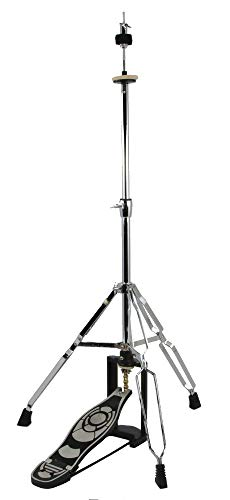 NEW DRUM HIGH HAT CYMBAL STAND - DOUBLE BRACED CHROME