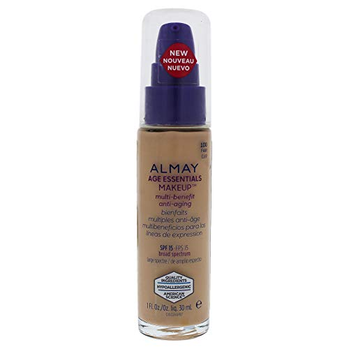 Almay Foundation - Almay Age Essentials Multi-benefit Anti-aging Makeup - 100 Fair By Almay for Women - 1 Oz Foundation, 1 Oz