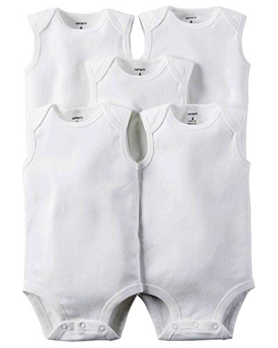 Carter's 5-Pack S/L Bodysuits - White- 12 Months ()