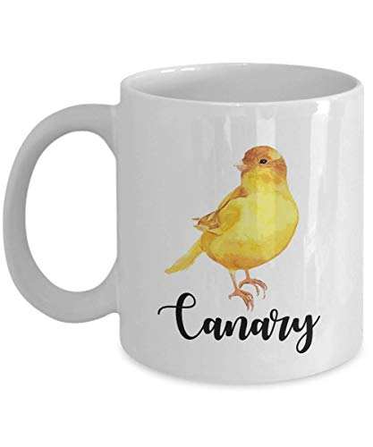 (Cute Yellow Canary Pet Bird Print Coffee & Tea Gift Mug, Products, Supplies, Accessories And Gifts For Birds Lover Men &)
