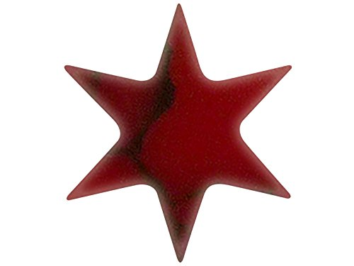 Incudo Precision IP001355 8mm 6 Point Star Inlays - Bloody Basin Jasper (Pack of -