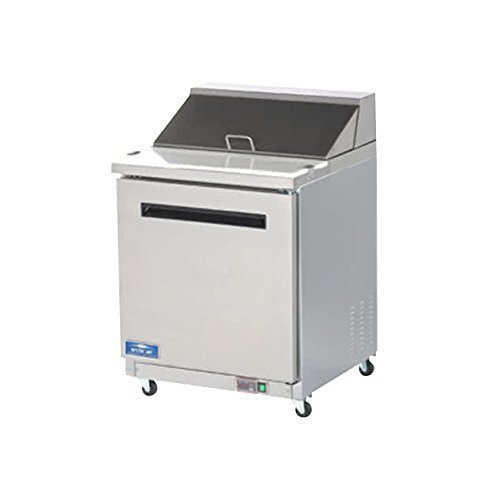 Refrigerated Salad Prep Table - Arctic Air AMT28R 29-Inch 1-Door Mega Top Refrigerated Sandwich/Salad Prep Table, 115v