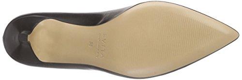 Evita Shoes Pump, Scarpe Col Tacco Punta Chiusa Donna Nero (Schwarz (Schwarz 10))