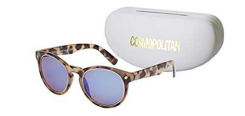 (Cosmopolitan Sunglasses Women's Emma Round Lens Style, Light Demi, 51)