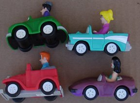 Archies Set Of (4) Cars From Burger King