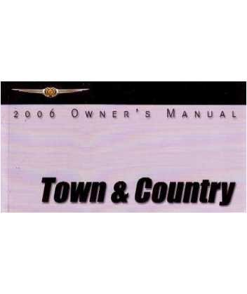 2006 chrysler town country owners manual user guide reference operator book software. Black Bedroom Furniture Sets. Home Design Ideas
