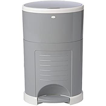 Dekor Plus Hands-Free Diaper Pail | Easiest to Use | Just Step – Drop – Done | Doesn't Absorb Odors | 20 Second Bag Change | Most Economical Refill System |Great for Cloth Diapers | Gray