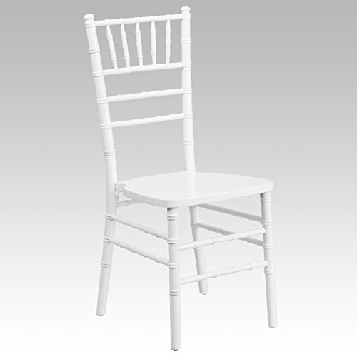 Flash Furniture HERCULES Series White Wood Chiavari Chair
