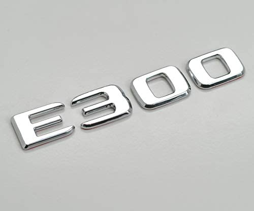 Silber Chrom E300 Flaches Benz Auto Modell nummeriert Buchstabe Abzeichen Emblem f/ür Benz E Class W210 W211 W212 C207//A207 W213 AMG