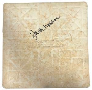 (Jack McKeon Autographed 2003 National League Division Series Game Used Base - MLB Autographed Game Used Bases)
