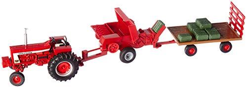TOMY 1:32 Case IH Die Cast Haying Set, Red 46671 (Ertl Toy Tractors)