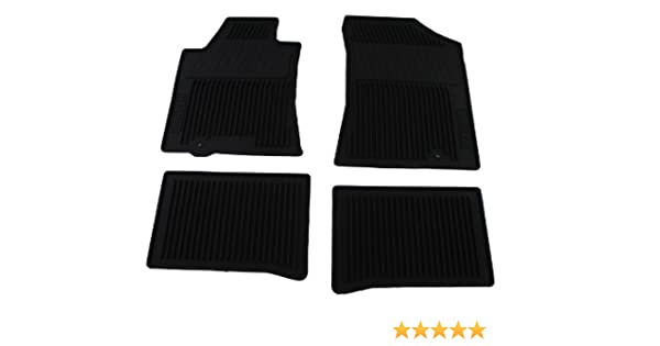 Set of 4 Genuine Nissan Accessories Genuine Nissan 999E1-MV000BK Accessories Custom Fit All Season Floor Mat