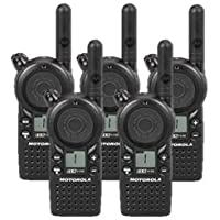 5 Pack of Motorola CLS1110 Two-way Radios with Programming Video
