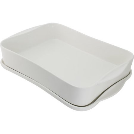 10 Strawberry Street Baker with Serving and Storing Lid, White (Set of 2) by 10 Strawberry Street (Image #1)