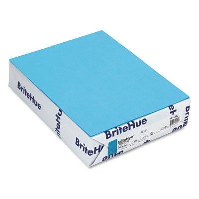 Mohawk BriteHue Blue 24 lb/60 Vellum Text Paper, 8.5 x 11 Inch, 500 Sheets/Ream - Sold as 1 Ream ()