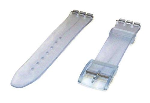 marca popular la mejor moda nueva lanzamiento Swatch estilo transparente de goma correa para reloj 17 mm ...