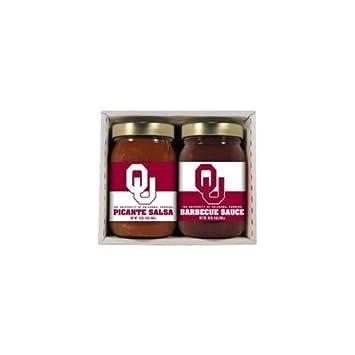 Caliente Salsa Harrys 4748 Oklahoma Sooners doble juego para barbacoa salsa: Amazon.es: Deportes y aire libre