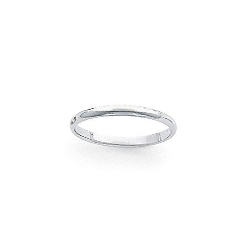 Platinum 3mm Half-Round Featherweight Wedding Band Size 5.5