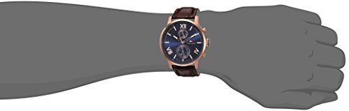 Tommy Hilfiger Men's 'ALDEN' Quartz Stainless Steel and Leather Casual Watch, Color:Brown (Model: 1791308)