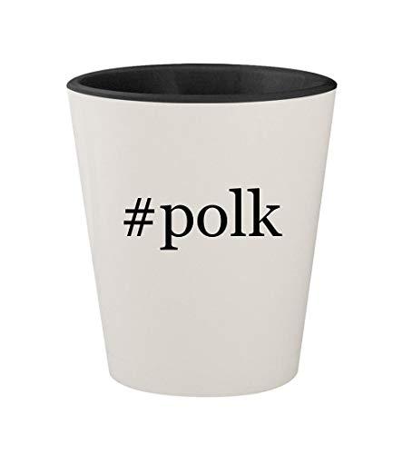 #polk - Ceramic Hashtag White Outer & Black Inner 1.5oz Shot Glass