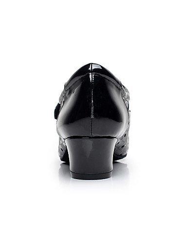 Donne Personalizzabili Moderna Similpelle Nero Delle Da Bianco Grosso In Scarpe Shangyi Ballo Bianco In Non Tacco YwgnqH