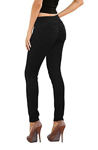 Stretch Corduroy Jean - HyBrid & Company Womens Super Stretch Jeans-P26131SK-Black-11
