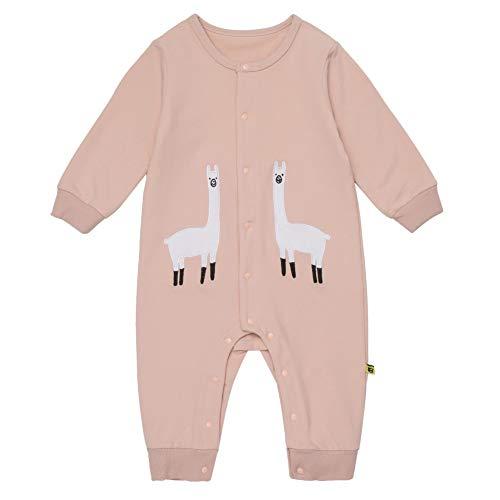 Teeker Unisex Baby Onesies Cotton Bodysuit Long Seleeve Alpaca Print Baby Outfit