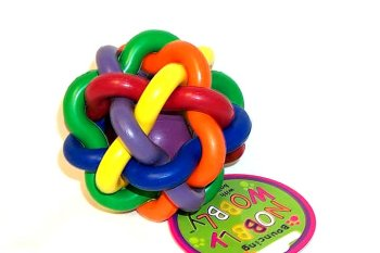 Multipet Nobbly Wobbly with Bell Dog Toy For Sale