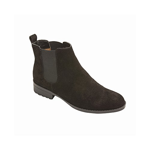 PIC/PAY Alda Women's Bootie - Ankle High Leather Boot Black Cow Suede 7.5M