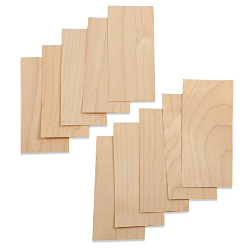 StewMac Acoustic Guitar Neck Shims, Maple - Set of 10