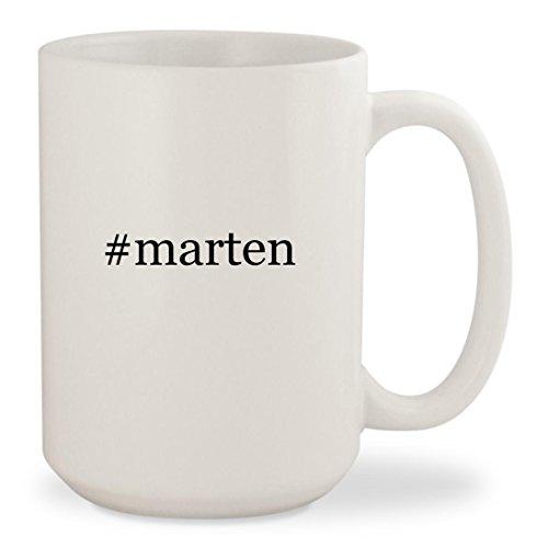 #marten - White Hashtag 15oz Ceramic Coffee Mug - Brown Doc Twitter