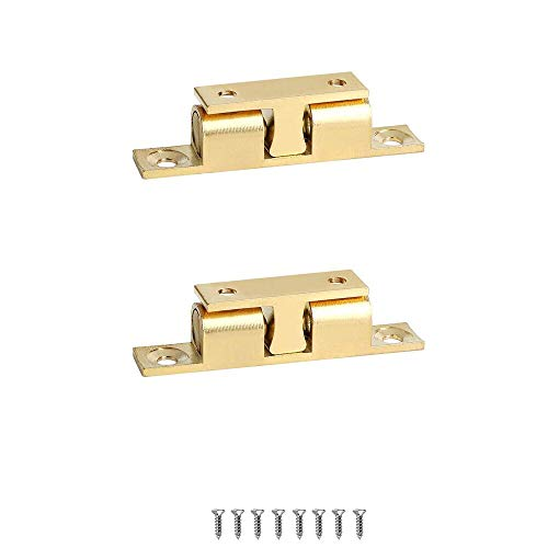 WOOCH Solid Brass Cabinet Door Closet Ball Tension Catch Latch (2.76-Inch x 0.47-Inch,2 Pack)