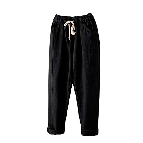 Ladies Trousers Hot Sale,DEATU Womens Solid Elastic Mid Waist Comfy Loose Casual Pants Trousers with -