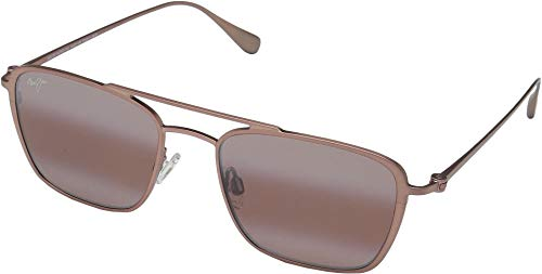 Maui Jim Unisex Ebb & Flow Brown Red Satin/Maui Rose One Size