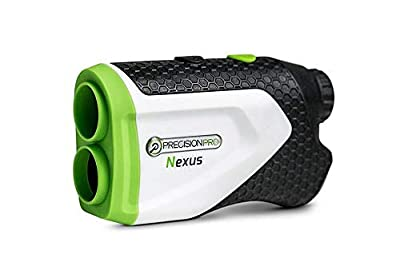 Precision Pro Golf - Nexus Golf Rangefinder - Laser Golf Range Finder Accurate To 1 Yard, 400 Yard Range, 6X Magnification, Carrying Case