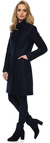 Cappotto Marino Bellivalini Donna 7259 Blu GR1F1 1C74qw