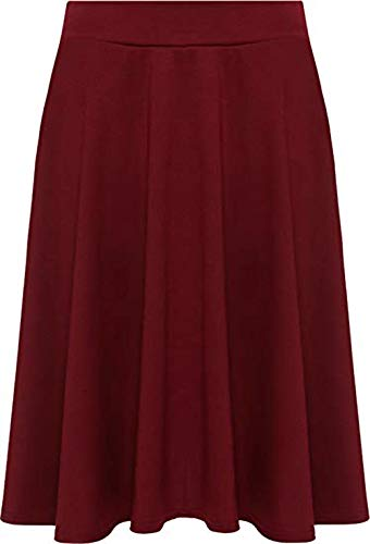 Bordeaux Fashion High Femme Street Jupe UZWqF7