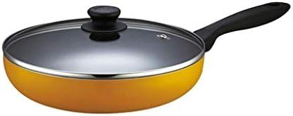 MHTCJ 蓋付きの銅テフロン加工のフライパン、フライパンと鍋セラミックチタンコーティング、ガスのための専門のラウンドアルミソテーパン (Size : 28cm)