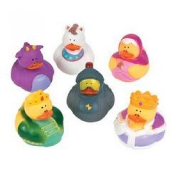 Fun Express Fairy Tale Rubber Duck Ducky Party Favor Set (Lot of 12)