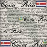 Scrapbook Customs - World Collection - Costa Rica - 12 x 12 Paper - Scratchy